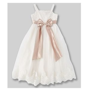 Chantilly Lace Girls Flower Girl Dress